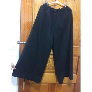 黑色寬褲~喇叭寬擺修身型