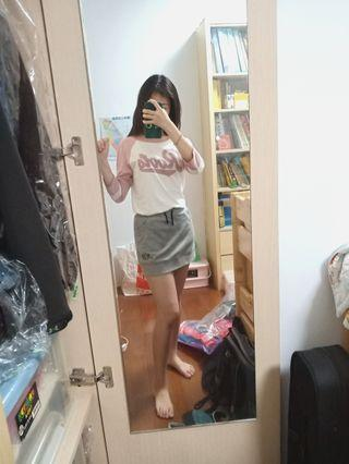 🚚 New balance A字裙 灰色短裙 膝上裙 彈性窄裙