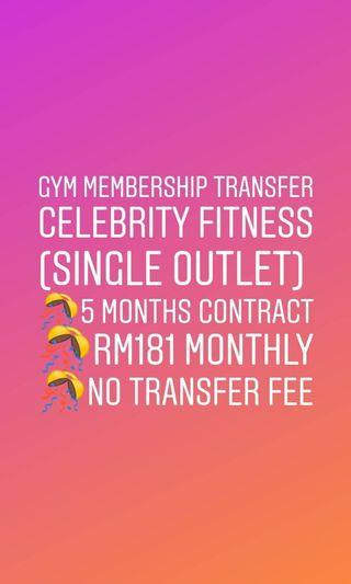 CELEBRITY FITNESS GYM MEMBERSHIP