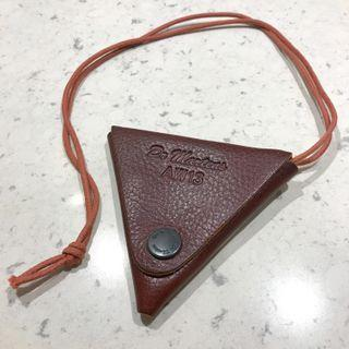 Dr Martens leather triangle coin pouch