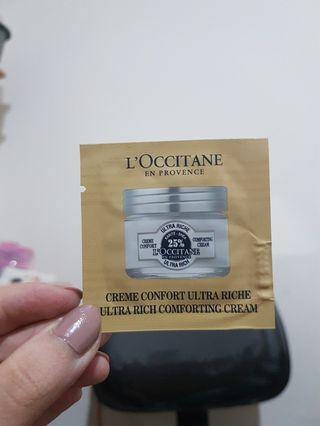 L'Occitane Ultra Rich Comforting Cream 1.5ml Sample Size