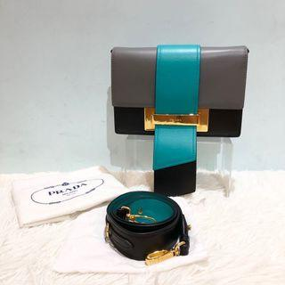 正品 Prada Plex Ribbon Crossbody Bag/ clutch