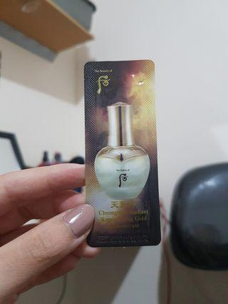 History of Whoo Cheongidan Radiant Regenerating Gold Concentrate Sample Size