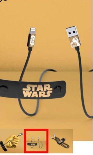 Star Wars BB-8 iPhone iPad 叉電/數據線連線帶