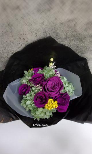 花束/永生花/紫色/鮮花質感,卻可保存較長時間