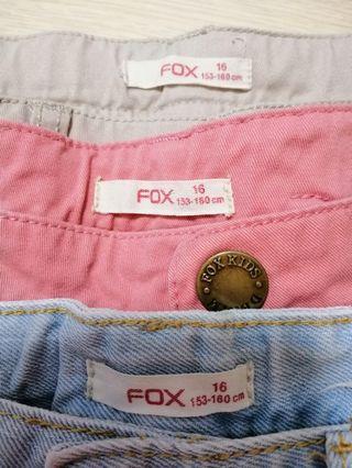 🚚 FOX girls' shorts