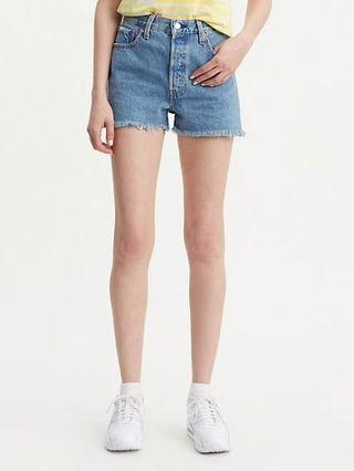 Frayed Denim Short w Side Split