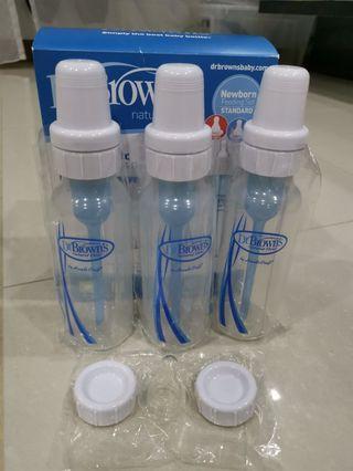 Dr Brown Bottles x 3 (8oz/250ml each)