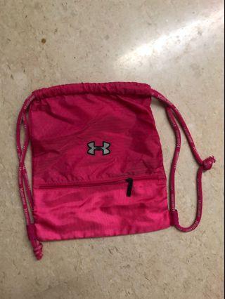 under armour pink drawstring bag