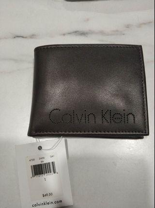 全新Calvin Klein真牛皮皮包,美國帶回