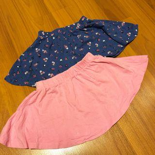 2 pcs Mothercare Cotton Girl's Skirts