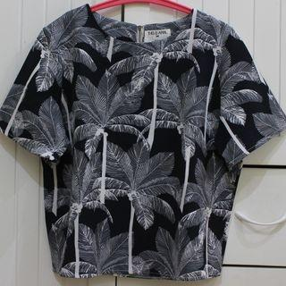 This Is April Coconut Tree Navy Blouse