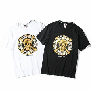 Aape x OnePiece 聯名款圓領純棉短袖T恤