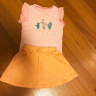 Mothercare Set : Girl's Blouse and Skirt