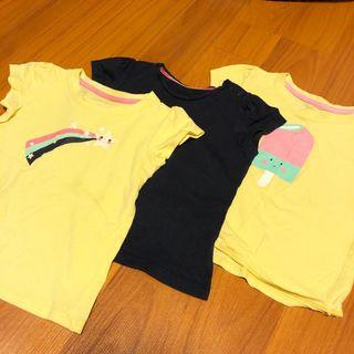 🚚 3pcs Girl's Cotton T-shirts