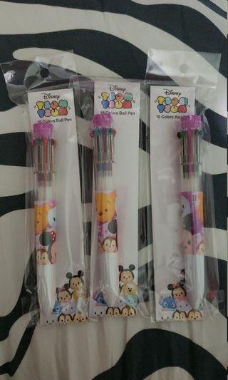Disney Tsum tsum 10色原子筆 tsum tsum 10 colour ball pen winniethepooh mickey minnie chip dale donald daisy