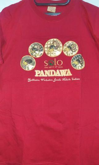 Kaos Santai Gambar Jawa Batik