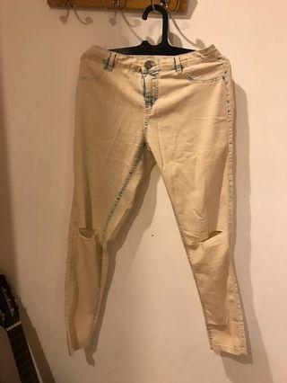 White/Cream Women Ripped Jegging Cotton On