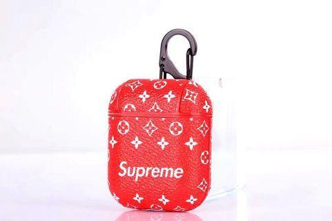 Supreme x LV louis vuitton airpods/airpod case [luxury]