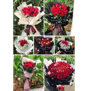 9 | 11 | 33 | 99 Roses Bouquet (Fresh Flowers)