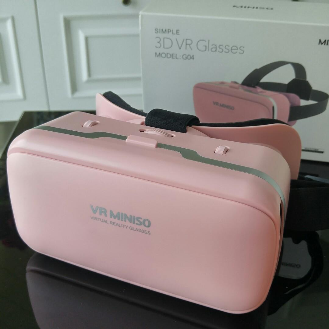 3D VR GLASSES MINISO G04 Virtual Reality Cardboard #maudandan