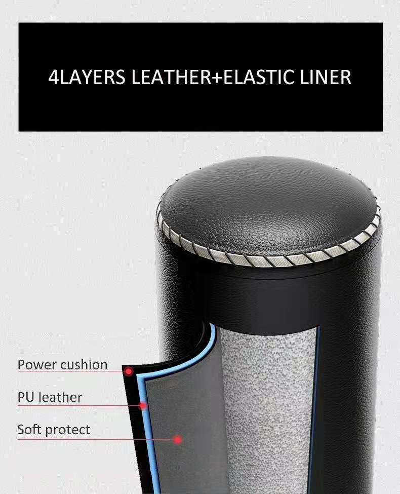 4 Layers lather boxing practice punching bag with strong plastic foot