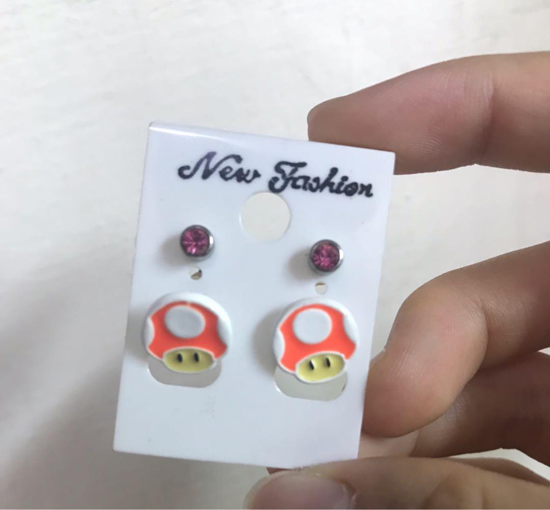 耳針式耳環😍 買二送一