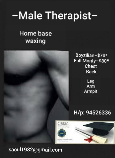 Boyzilian waxing - Male Therapist