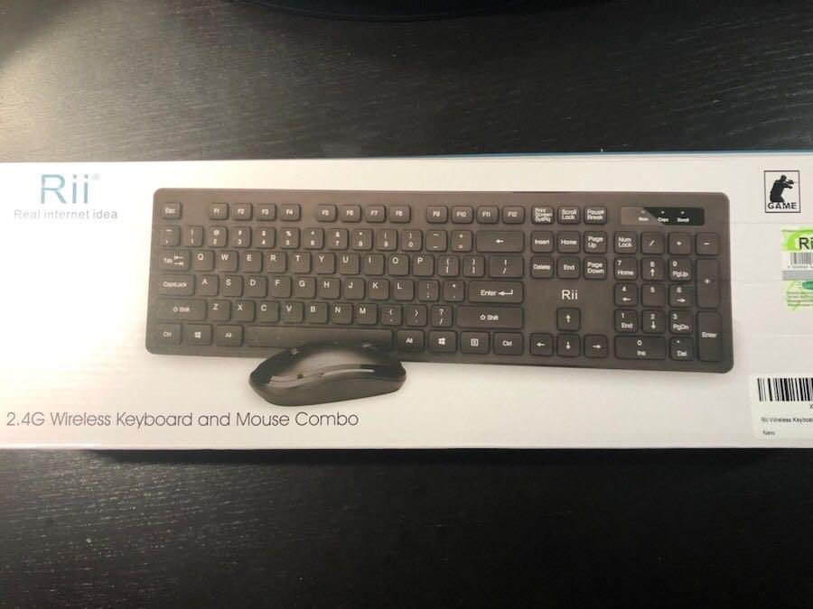 Brand new Rii Wireless Keyboard and Mouse Combo RK102