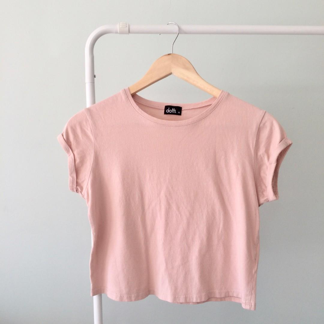 Dotti pink cropped tee