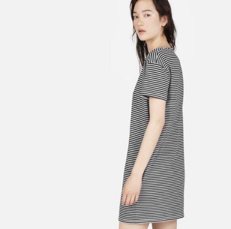 Everlane Box-Crop Striped Dress