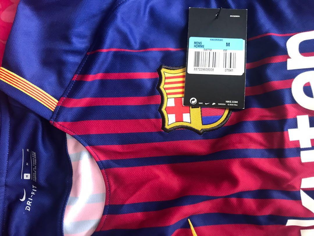 FC Barcelona stadium home jersey authentic size m #mgag101