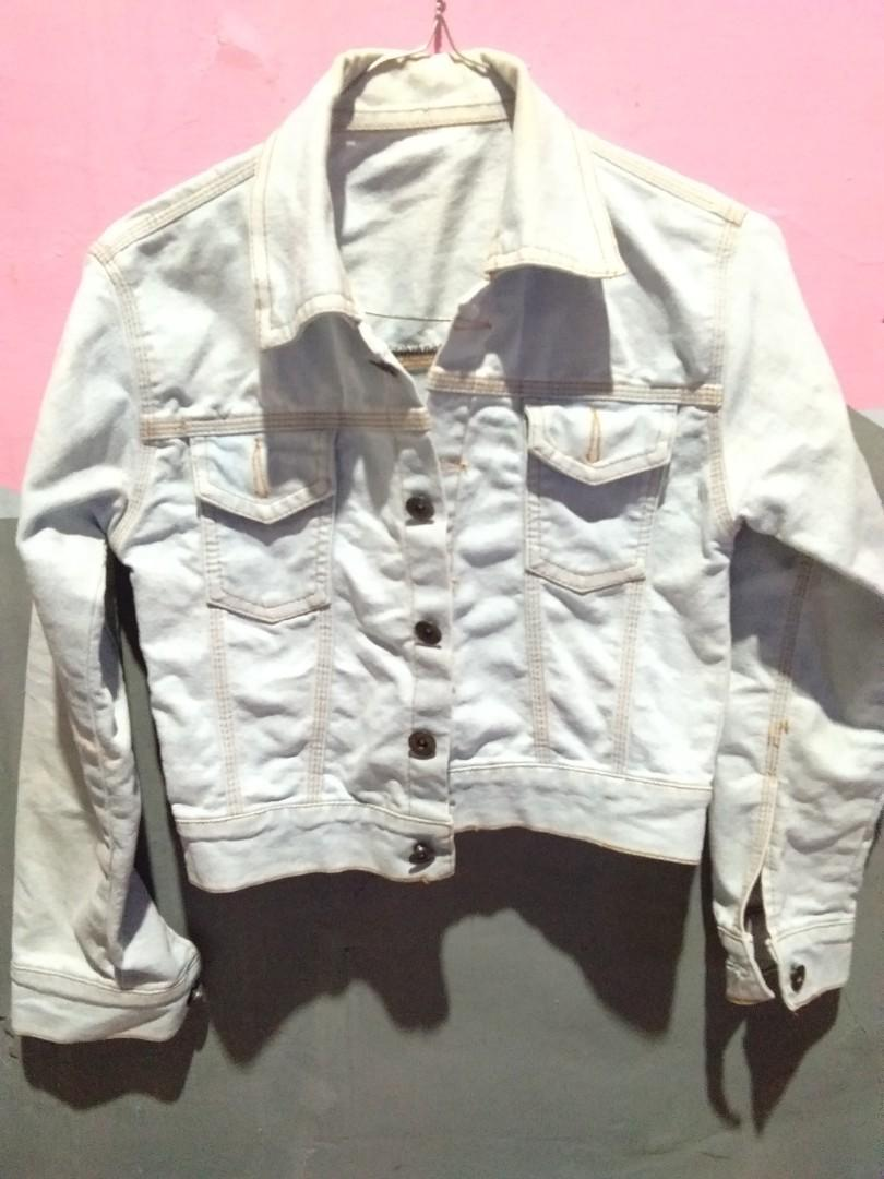 Jaket Jeans Crop wanita