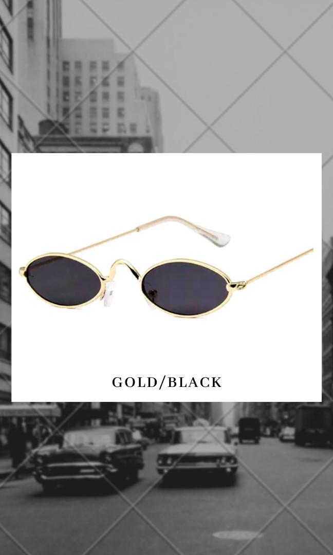 Kacamata gaya Frame Metal Kecil