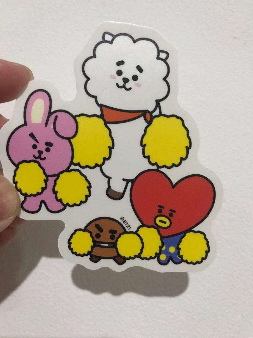 Kaos UT Uniqlo BT21 BTS Size L (Gratis Stiker ORI Line Store Japan)