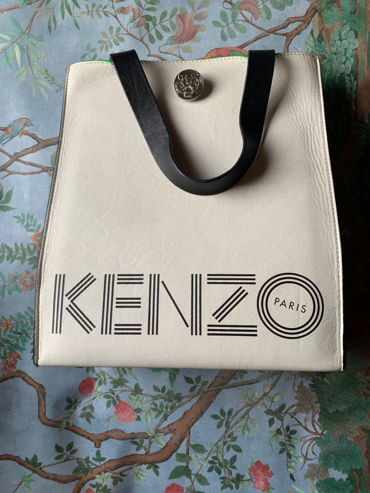 Kenzo h&m small leather tote bag