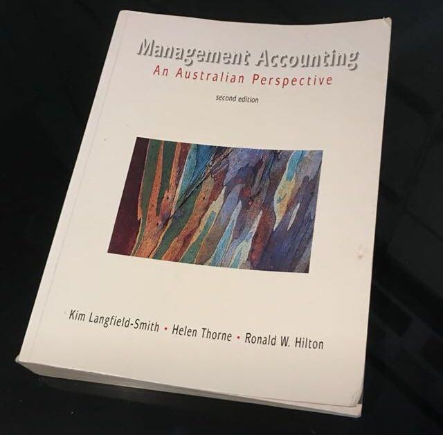 Management Accounting an Australian Perspective (2nd ed); Langfield-smith, Thorne & Hilton