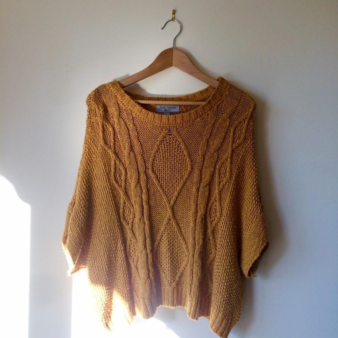 Mustard knit jumper