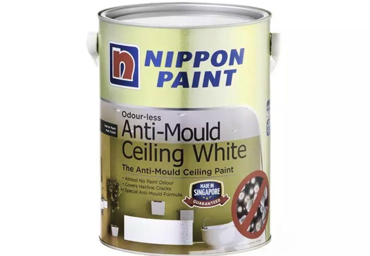 NIPPON PAINT (Odour-less / Anti-Mould) Ceiling White 5L