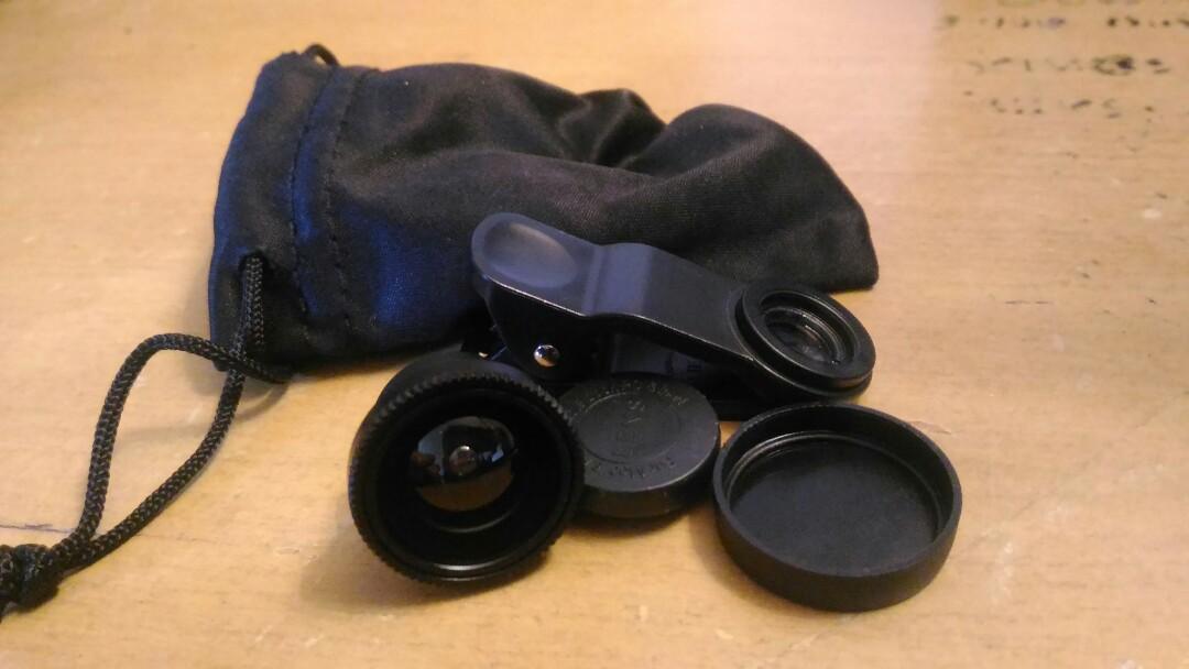 Phone Lens Kit ( Fish Eye Lens, 2 in 1 Macro Lens)