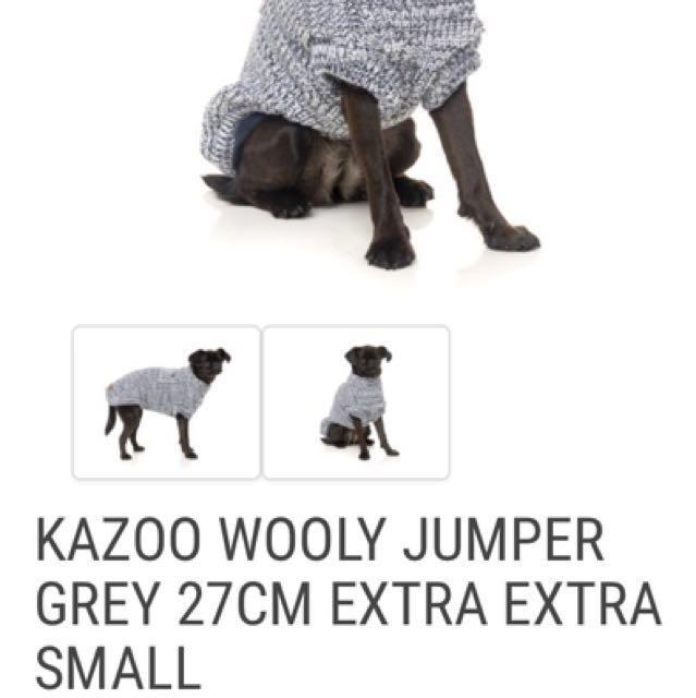 Pickup near Kensington or postage $8.40 xxs knitted dog jumper almost new worn once bought $32.
