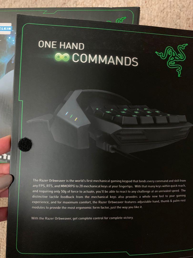 Razer orbweaver elite mechanical gaming keyboard one hand brand new with box