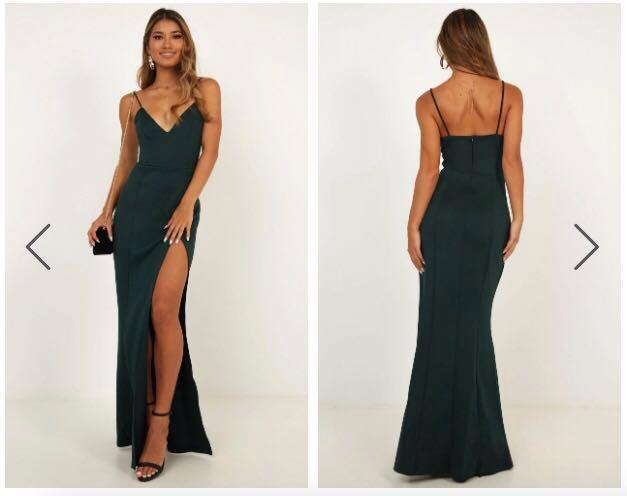 RENT Emerald Green Formal Dress