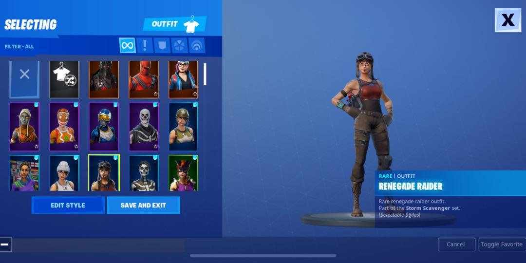 Stacked Og renegade raider + skull trooper account, Toys