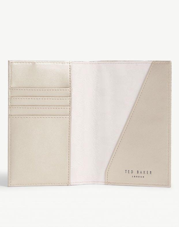 Ted Baker Passport Holder and Tag Set (Rosegold)