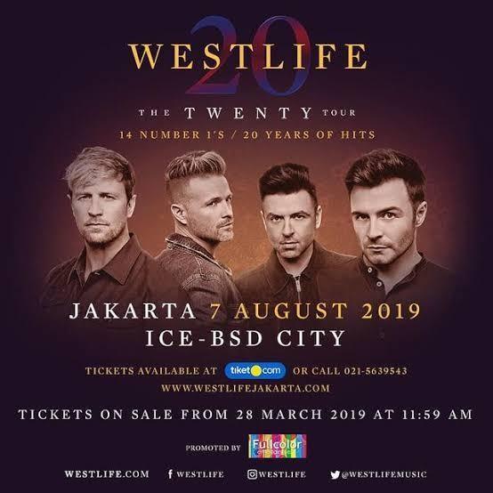 Tiket Westlife - 2 tiket Platinum