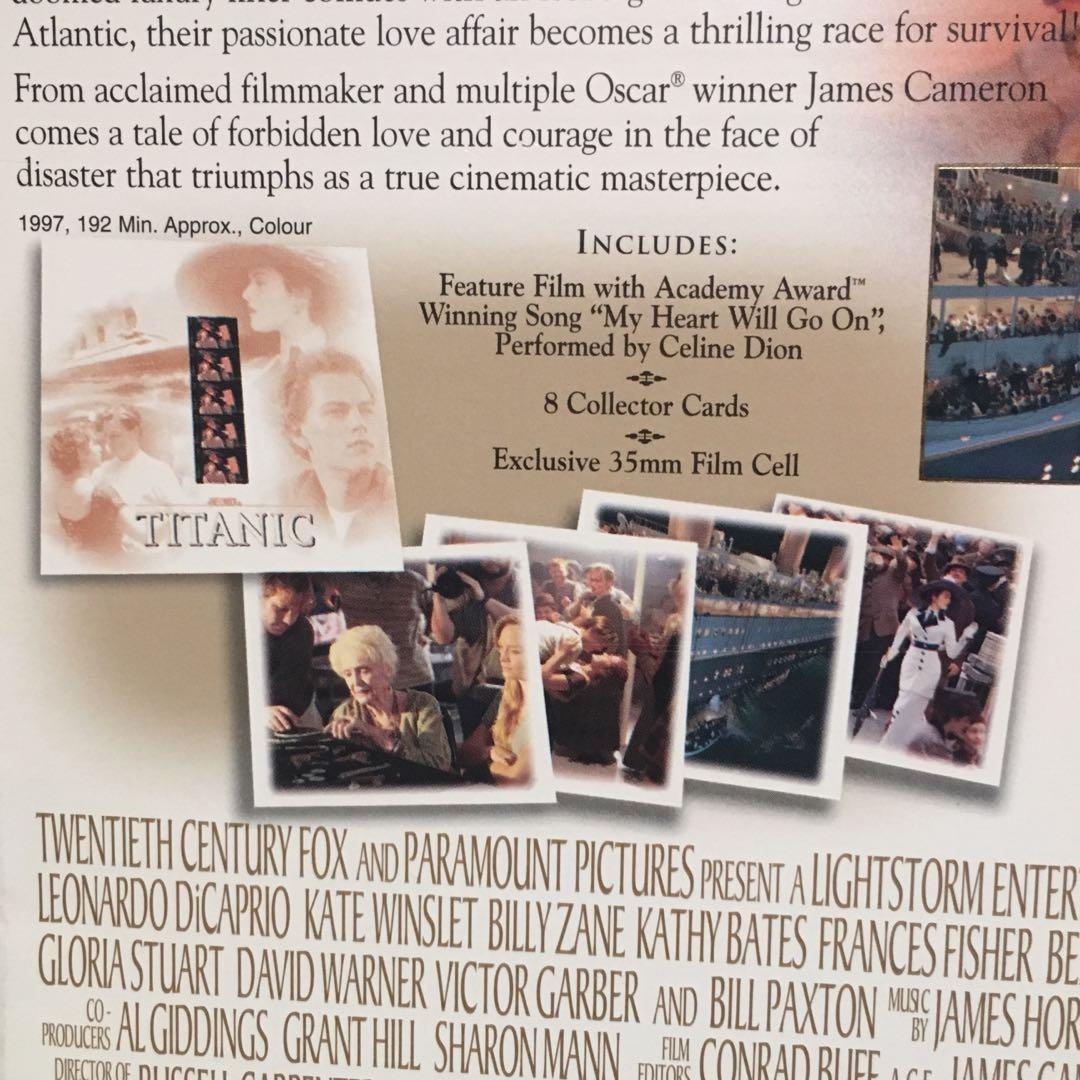 Titanic *SEALED* 35mm JACK & ROSE Film Cells/Cards/VHS Collector's Box