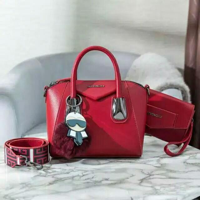 V1 3151-125 Givenchy Antigona Carlito # set Clutch, Carlito Mirror PomPom MG