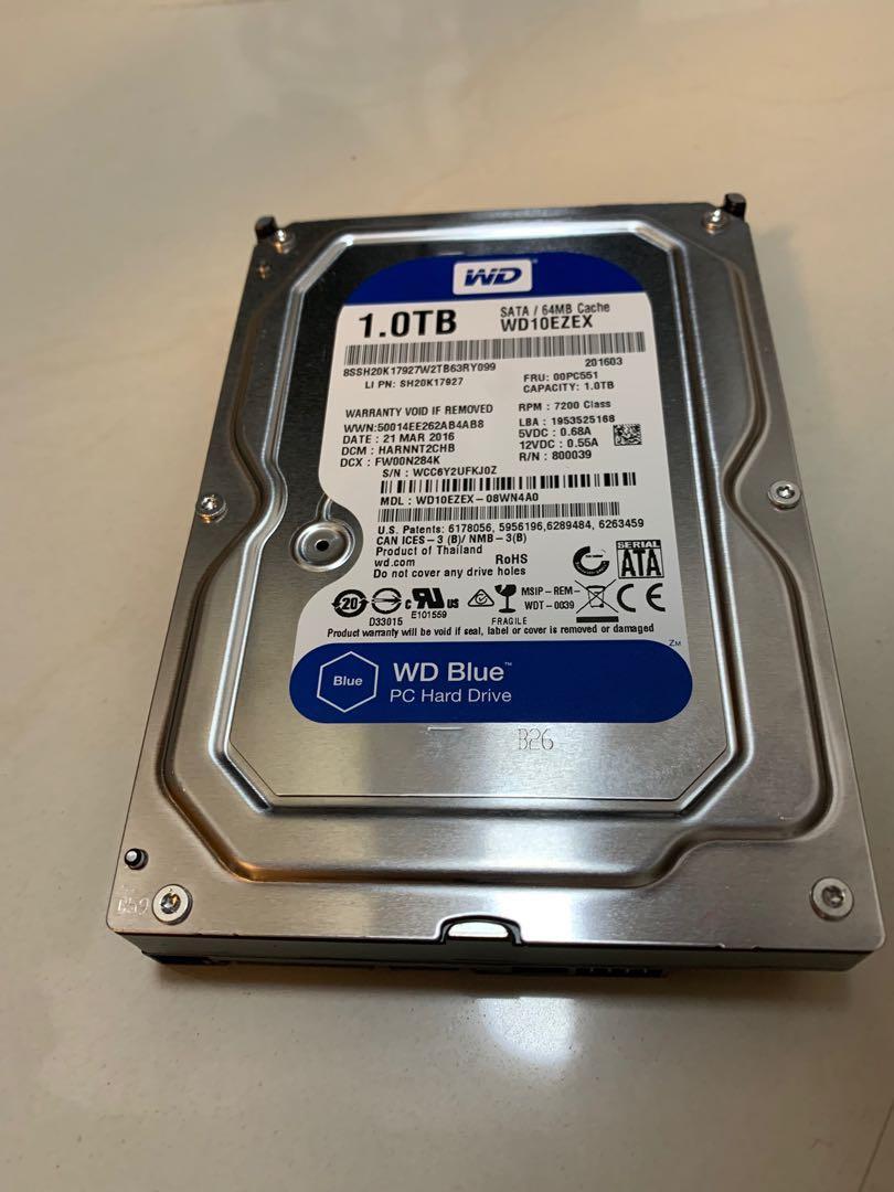 WD blue 1TB HDD Hard Disk