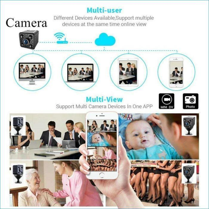 Wireless Battery Spy IP Camera [Features:Full-HD 1080P CCTV, Wifi Remote View, Audio-Recording, Hidden Invisible Infrared LED Night-Vision, Motion Detect, Loop-Recording, Wide-Angle CCTV Camera, APP:BVCAM]